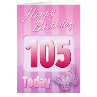 Happy 105th Birthday Grand Mother Great-Aunt Mom Greeting Card