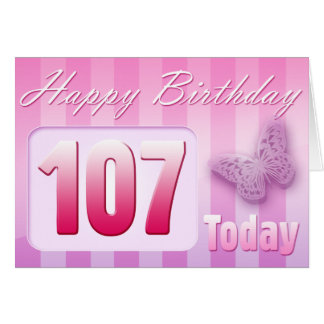 Happy 107th Birthday Grand Mother Great-Aunt Mom Card