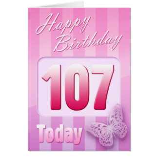 Happy 107th Birthday Grand Mother Great-Aunt Mum Card