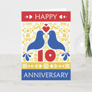 happy 10th anniversary card - Happy Anniversary Cards