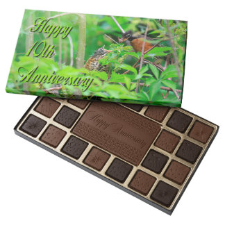 Happy 10th Anniversary For Nature Lovers 45 Piece Box Of Chocolates
