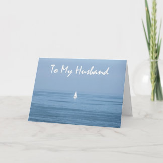 Happy 10th Anniversary Husband - Sailboat Card