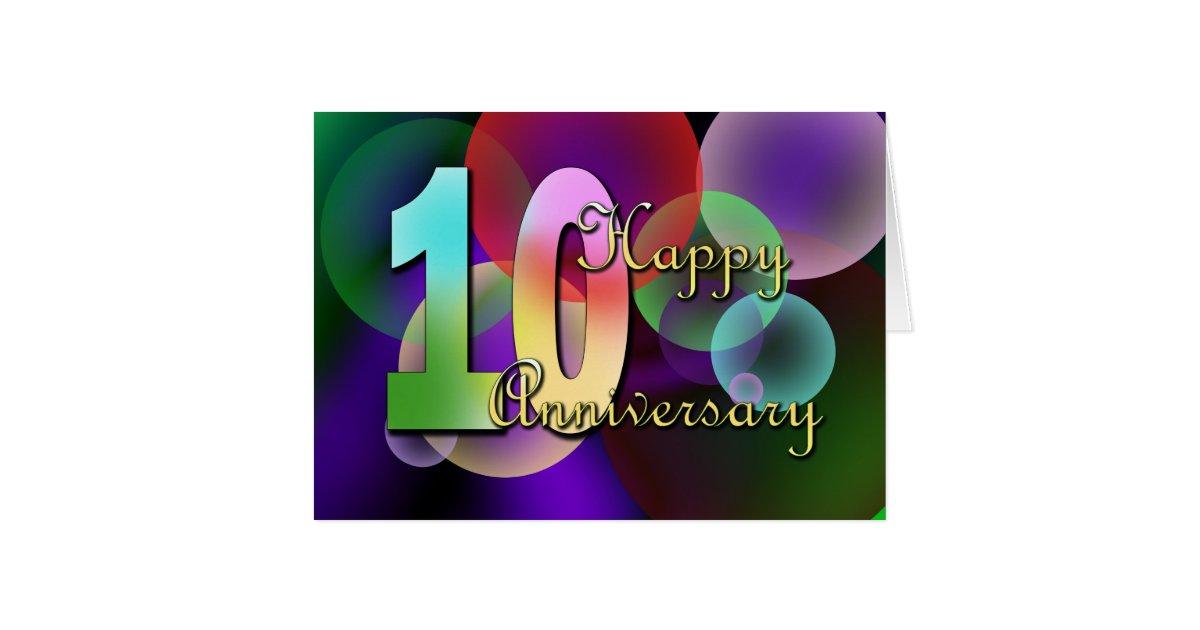 Happy 10th Anniversary (wedding anniversary) Card   Zazzle