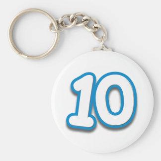 Happy 10th Birthday in Sim Font Keychains