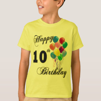 Happy 10th Birthday T-Shirt