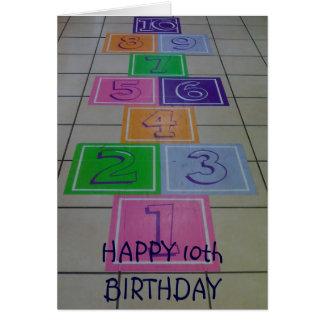 'HAPPY 10th BIRTHDAY' TURNING 10 IS FUN! Card