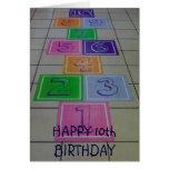 'HAPPY 10th BIRTHDAY' TURNING 10 IS FUN! Greeting Card