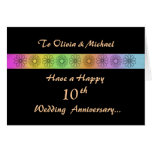 Happy 10th Customizable Anniversary Card Greeting Card