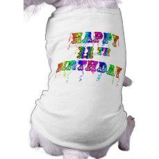Happy 11th Birthday Balloon Dog Shirt