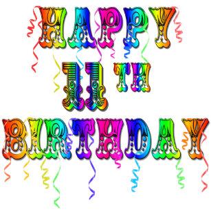 Happy 11th Birthday Balloon Magnets