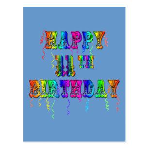 Happy 11th Birthday Balloon Postcards