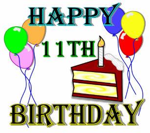 Happy 11th Birthday Cake T Shirt