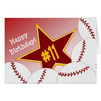 Happy 11th Birthday, Softball Star! Card