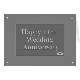 Hy 11th Wedding Anniversary Steel Card