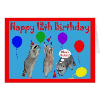 Happy 12th Birthday Cards Zazzle
