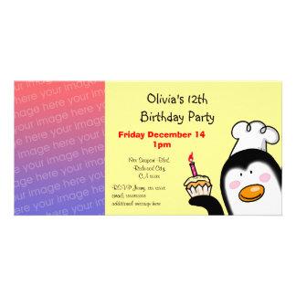 Happy 12th birthday party invitations photo card