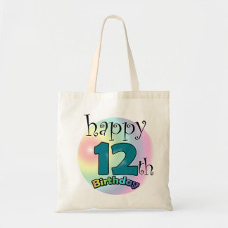 Happy 12th Birthday Tote Bag
