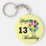 Happy 13th Birthday Gifts and Birthday Apparel Keychain