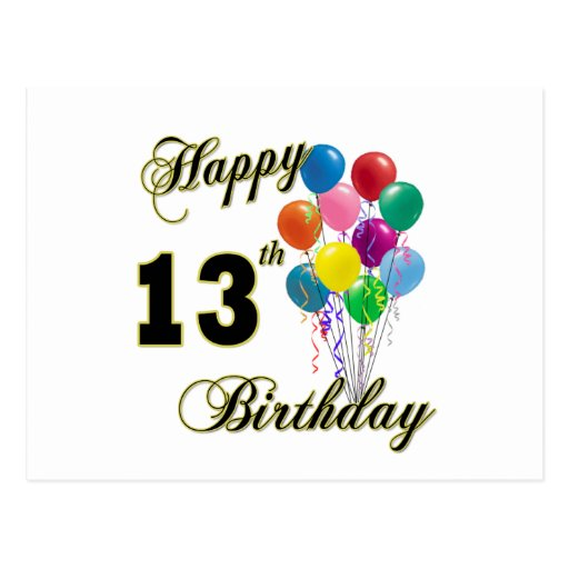 13th Birthday Quotes For Son Quotesgram Happy 13 Birthday Wishes