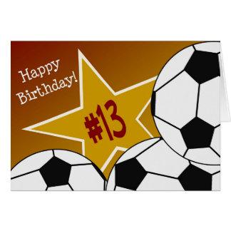 Happy 13th Birthday, Soccer Star! Card