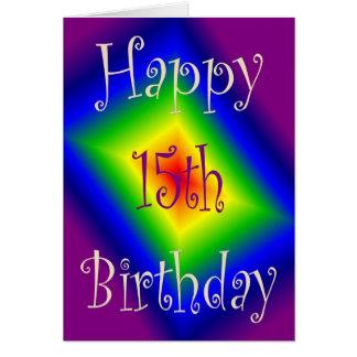 Happy 15th Birthday Card