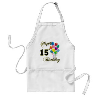 Happy 15th Birthday Gifts and Birthday Apparel Adult Apron