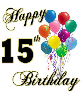 15th Birthday Balloons Crafts Party Supplies