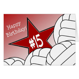 Happy 15th Birthday, Volleyball Star! Card