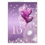 Happy 16th birthday balloons bright greeting card