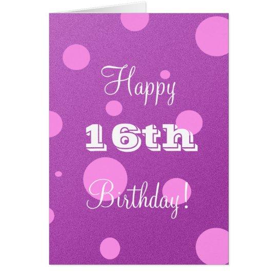 Happy 16th Birthday Card For Girl
