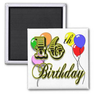 Happy 16th Birthday Gifts and Birthday Apparel Fridge Magnet