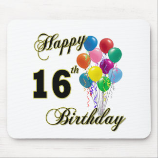 Happy 16th Birthday Gifts and Birthday Apparel Mouse Pad