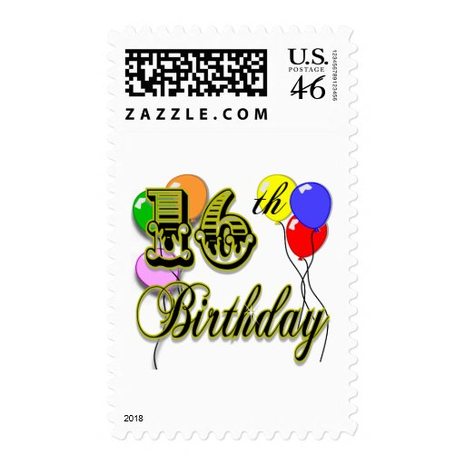 Happy 16th Birthday Gifts and Birthday Apparel Postage