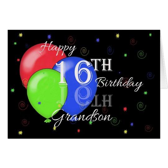 Happy 16th Birthday Grandson Card