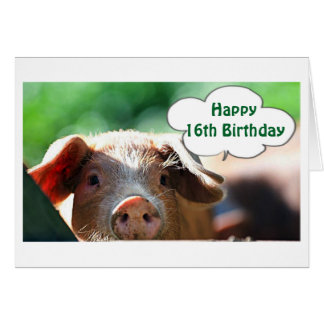 HAPPY **16th** BIRTHDAY LIVE IT UP-I WOULD! Card