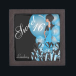 "Happy 16th Birthday | Personalize Keepsake Box<br><div class=""desc"">Keepsake Gift Box. 100% Customizable. Ready to Fill in the box(es) or Click on the CUSTOMIZE button to add, move, delete, resize or change any of the font or graphics. Made with high resolution vector and/or digital graphics for a professional print. NOTE: (THIS IS A PRINT. All zazzle product designs...</div>"