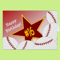 Happy 16th Birthday, Softball Star! Card