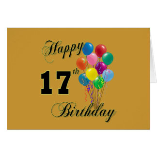 17th Birthday Designs Greeting Cards | Zazzle