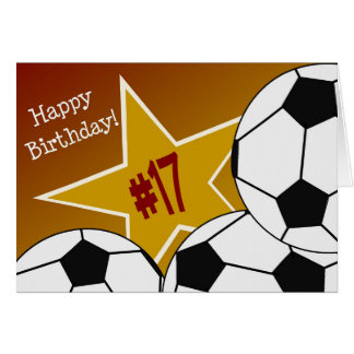 Happy 17th Birthday, Soccer Star! Card