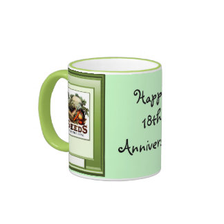 Happy 18th Anniversary, Grow vegetables Ringer Mug