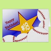 Happy 18th Birthday! Baseball Fan Card
