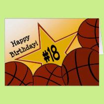Happy 18th Birthday, Basketball Star! Card