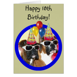 Happy 18th Birthday boxers greeting card