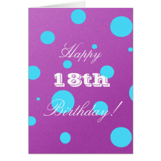 Happy 18th Birthday Card for Girl