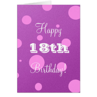Happy 18th Birthday Card for Girl