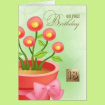 Happy 18th Birthday Customizable Greeting Cards