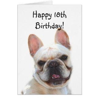 Happy 18th Birthday French Bulldog Greeting Card