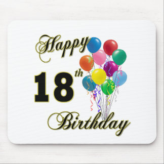 Happy 18th Birthday Gifts Mouse Pad