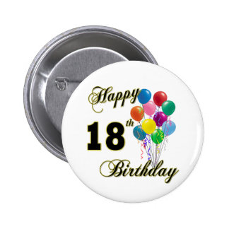 Happy 18th Birthday Gifts Pinback Button