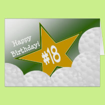 Happy 18th Birthday, Golf Star! Card